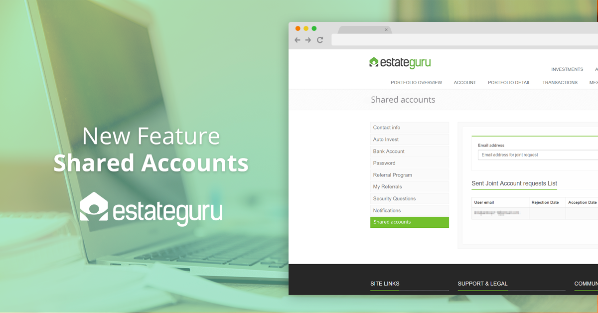 New Feature – Shared Accounts