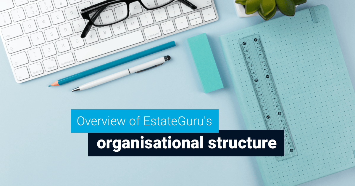 Overview of EstateGuru organisational structure